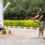 Mark Von Reddy recording audio for DCAM's Corporate Film