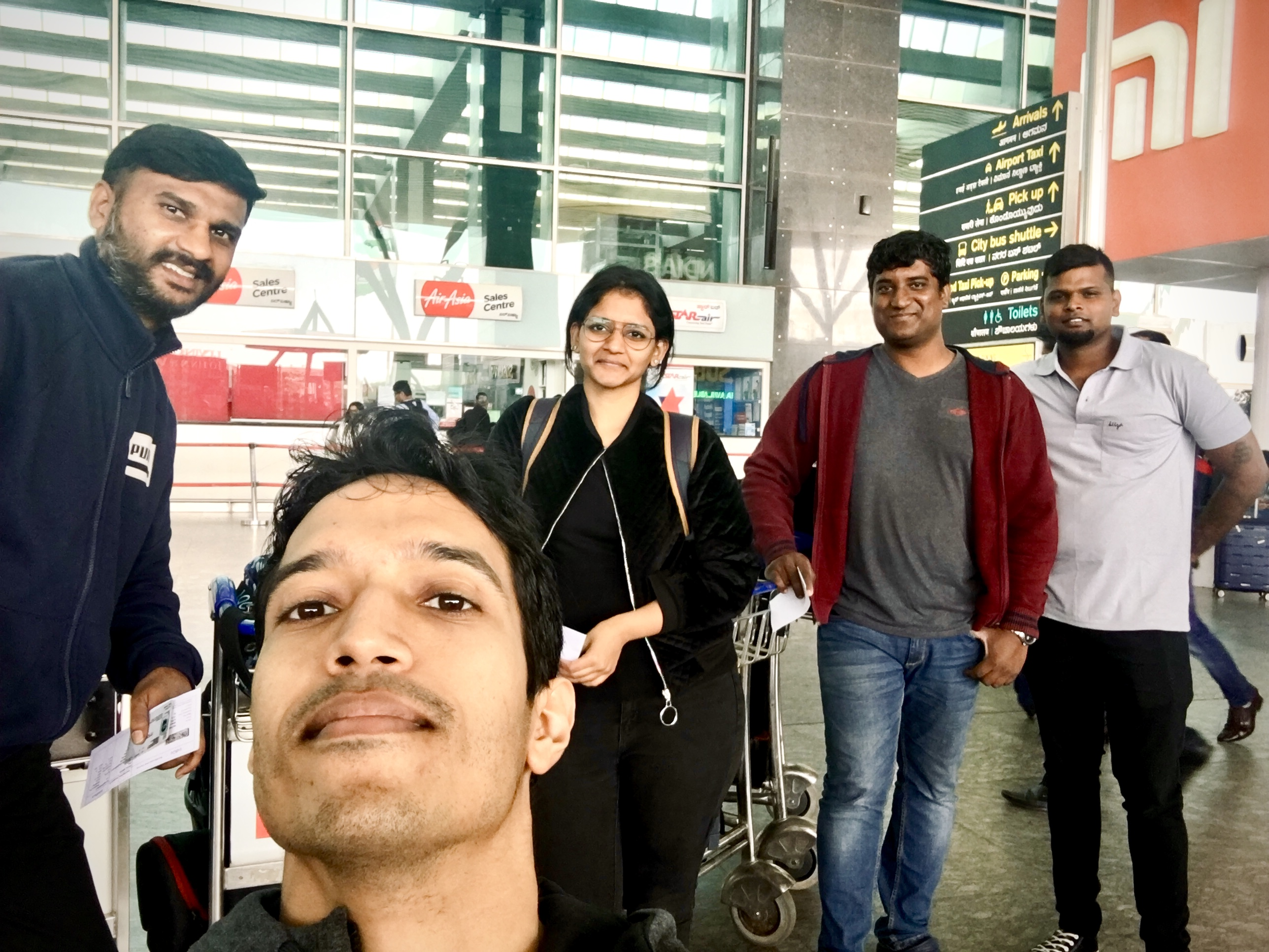 Crew at DCAM headed to Hyderabad to shoot a Corporate Film